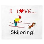I Love Skijoring King Duvet