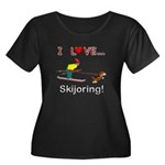 I Love Skijoring Women's Plus Size Scoop Neck Dark