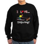 I Love Skijoring Sweatshirt (dark)