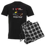 I Love Skijoring Men's Dark Pajamas