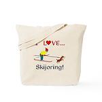I Love Skijoring Tote Bag