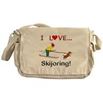I Love Skijoring Messenger Bag