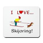 I Love Skijoring Mousepad