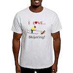 I Love Skijoring Light T-Shirt