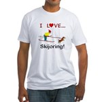 I Love Skijoring Fitted T-Shirt