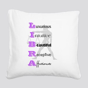 Libra Square Canvas Pillow