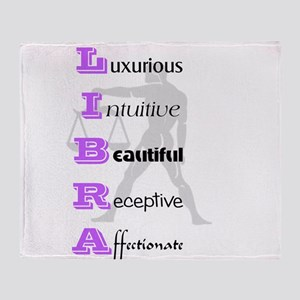 Libra Throw Blanket