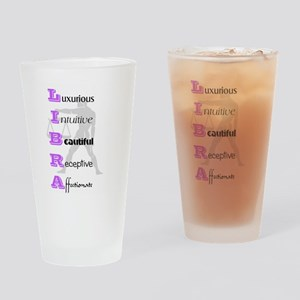 Libra Drinking Glass