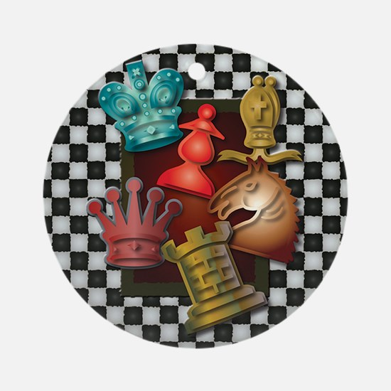 Chess Boxes Round Ornament