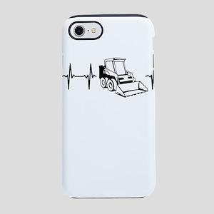 My heart beats for bulldozer iPhone 7 Tough Case