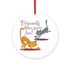 Tripawds Three Legged Cat Ornament (Round)