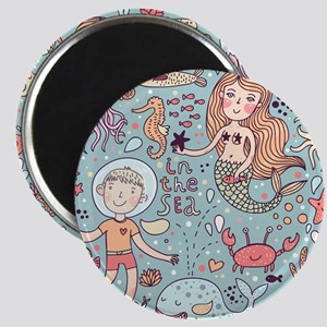 Whimsical Sea Life Magnet