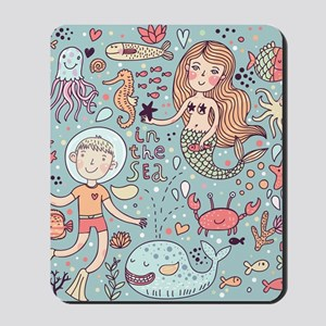 Whimsical Sea Life Mousepad