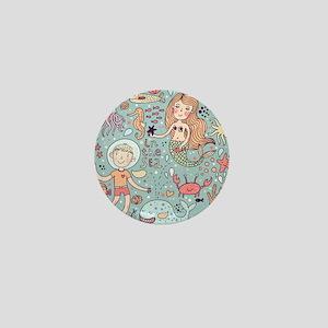 Whimsical Sea Life Mini Button