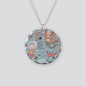 Whimsical Sea Life Necklace Circle Charm