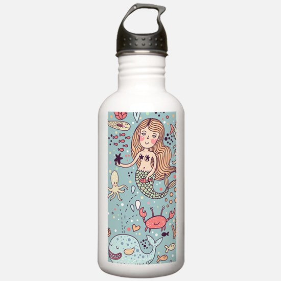 Whimsical Sea Life Water Bottle
