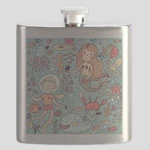 Whimsical Sea Life Flask