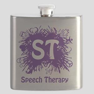 Speech Splash - purple Flask