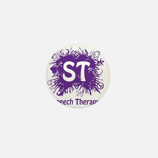 Speech Splash - purple Mini Button