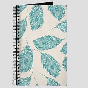 Elegant Peacock Feathers Journal