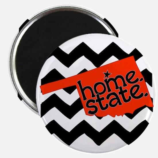 Oklahoma HOME State Orange and Black Magnet