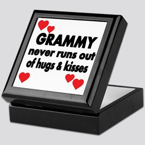 GRAMMY  NEVER RUNS  OUT OF HUGS  KISS Keepsake Box