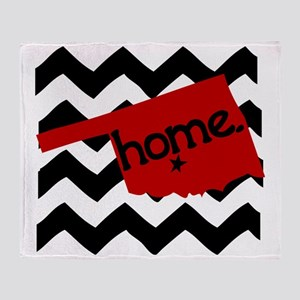 Oklahoma HOME State Crimson Throw Blanket
