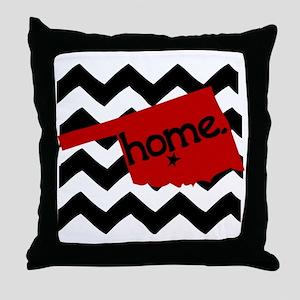 Oklahoma HOME State Crimson Throw Pillow