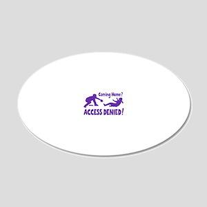 purple Access Denied, retro 20x12 Oval Wall Decal