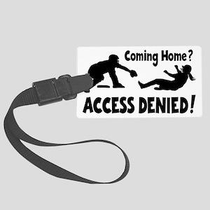 black Access Denied, retro Large Luggage Tag