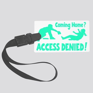 blue2 Access Denied, retro on bl Large Luggage Tag