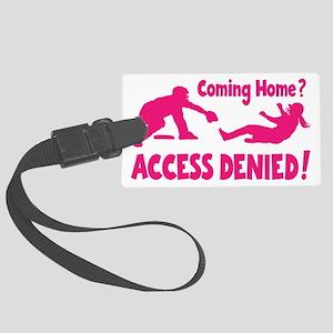 melon Access Denied, retro Large Luggage Tag