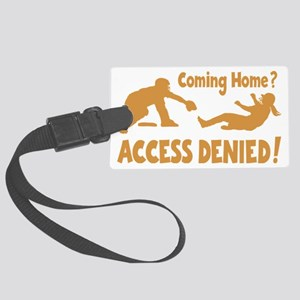 gold Access Denied, retro on bla Large Luggage Tag