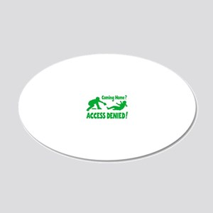 green Access Denied, retro 20x12 Oval Wall Decal
