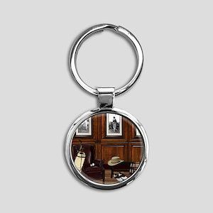 Country Club Round Keychain