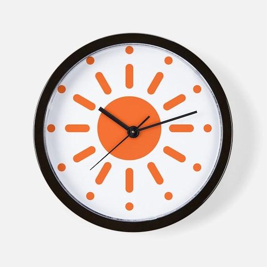 Sun / Soleil / Sol / Sonne / Sole / Zon Wall Clock