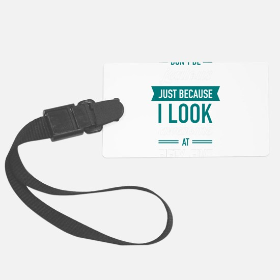 Awesome At Fifty-Five Luggage Tag