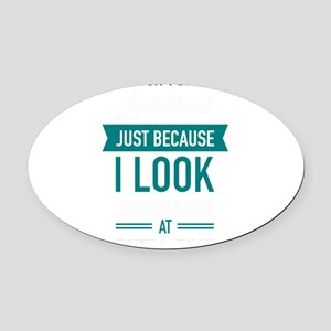 Awesome At Fifty-Five Oval Car Magnet