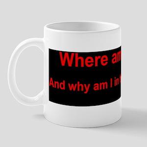 Handbasket Black Mug
