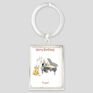 Happy Birthday - to you! Portrait Keychain