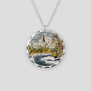 Half Dome Lover Necklace Circle Charm