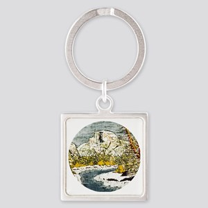 Half Dome Lover Square Keychain