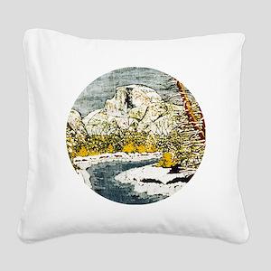 Half Dome Lover Square Canvas Pillow