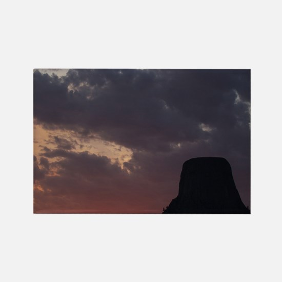 Towering Sunset Rectangle Magnet