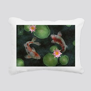 Koi Rectangular Canvas Pillow