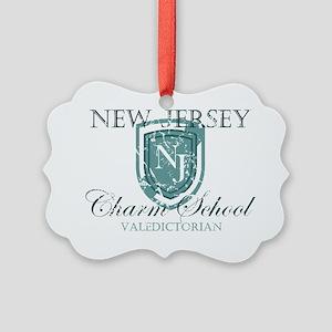 Vintage NJ Charm School Valedicto Picture Ornament
