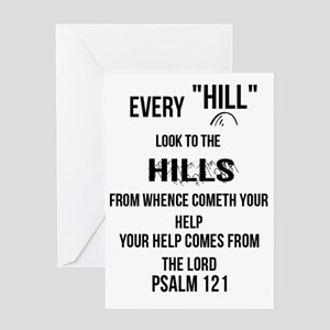 Psalm 121 greeting cards cafepress every hill look to the hills greeting card m4hsunfo