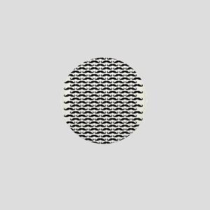 Mustache pattern Mini Button
