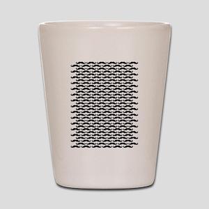 Mustache pattern Shot Glass