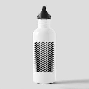 Mustache pattern Water Bottle